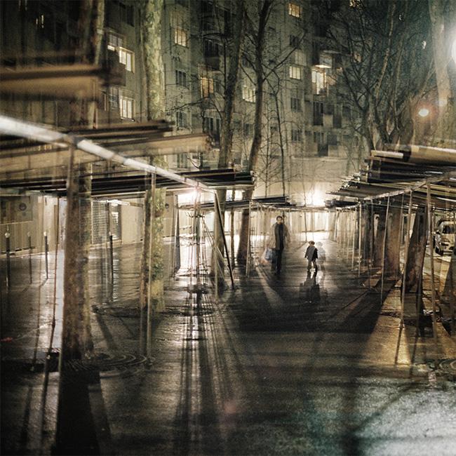 Street photography surimpression paris