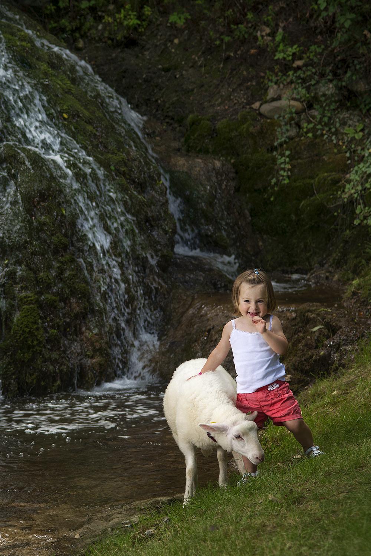 La petite fille au mouton commande photo isère biol